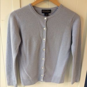 Brooks Brothers cashmere cardigan baby blue